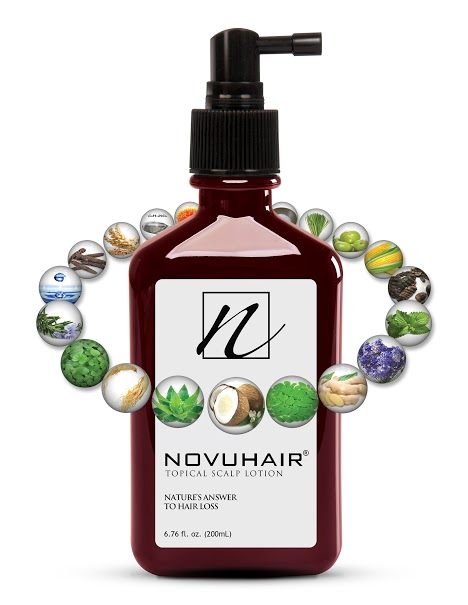Topical scalp lotion Novuhair now has 19 natural ingredients