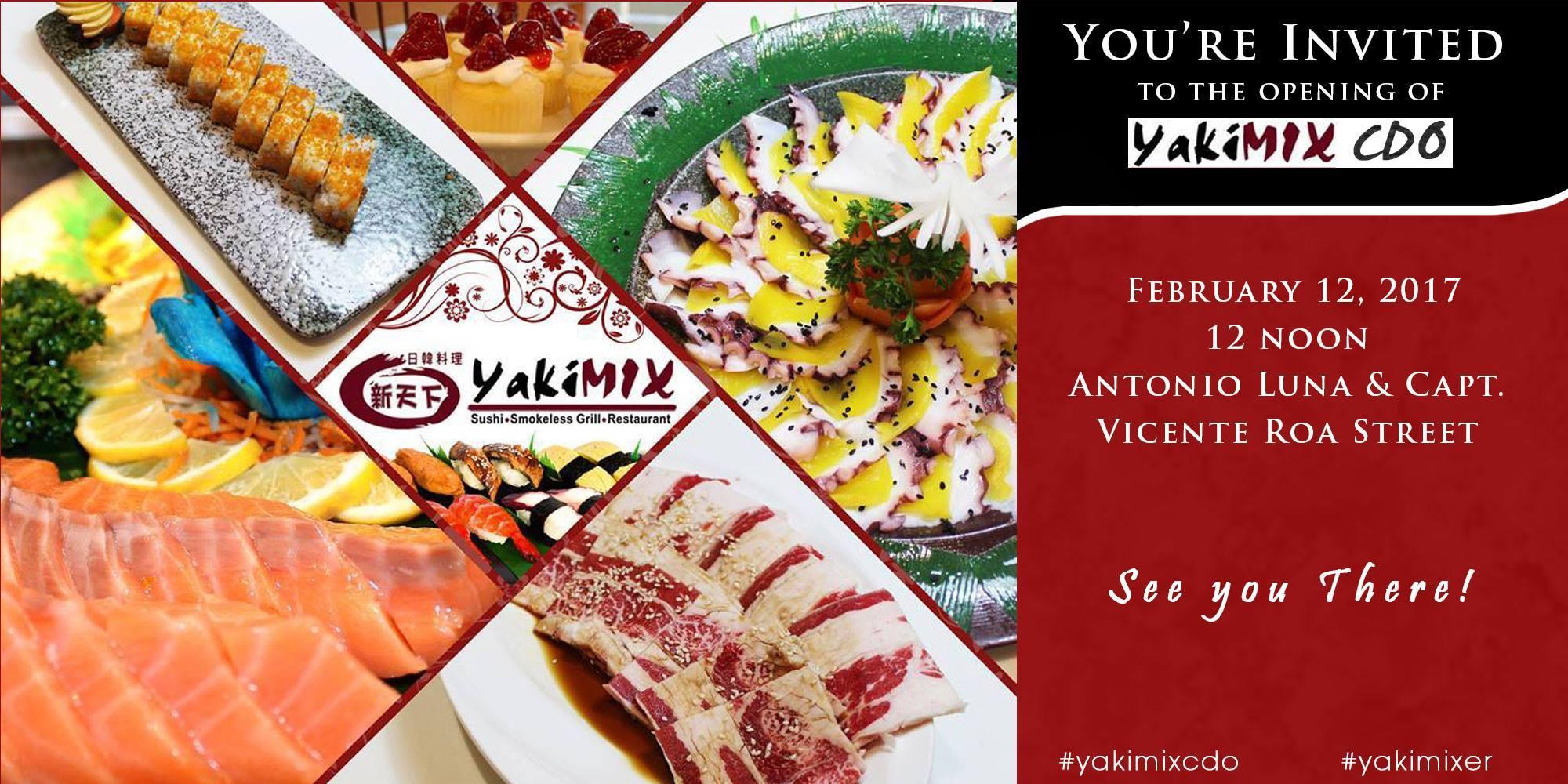 UPDATE: Yakimix CDO sushi and smokeless grill restaurant opening
