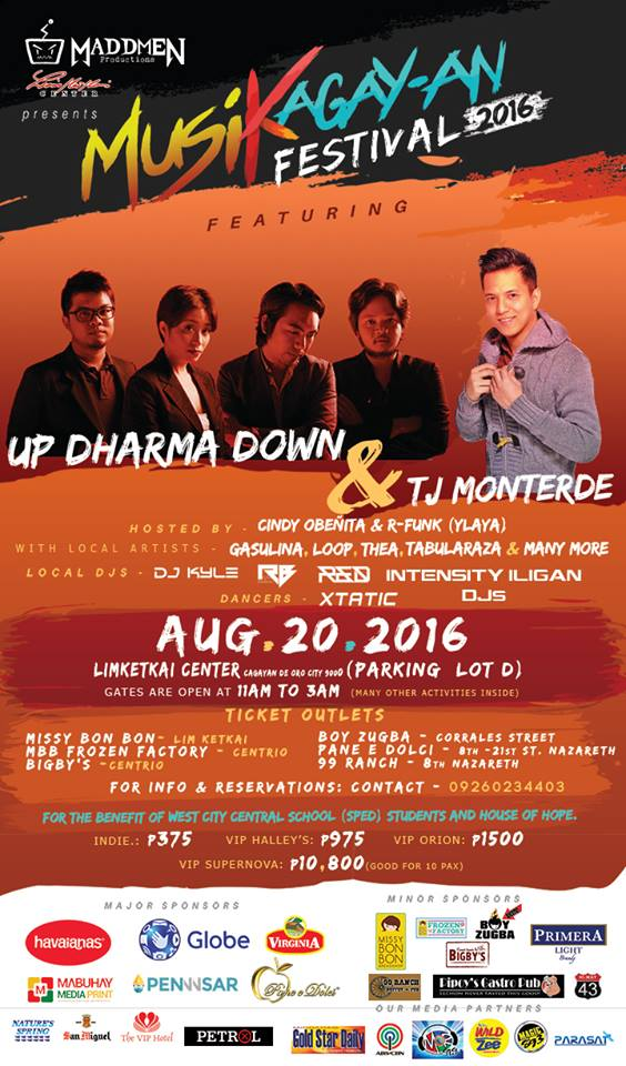 MusiKagayan Festival 2016 with Up Dharma Down and TJ Monterde (EASY TICKET GIVEAWAY INSIDE)