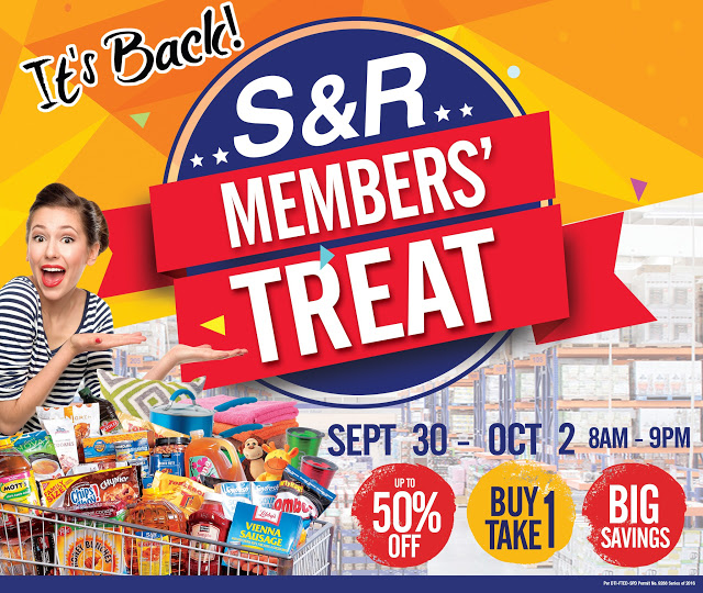 S&R Cagayan de Oro to hold Buy 1 Take 1, 50 percent off promos