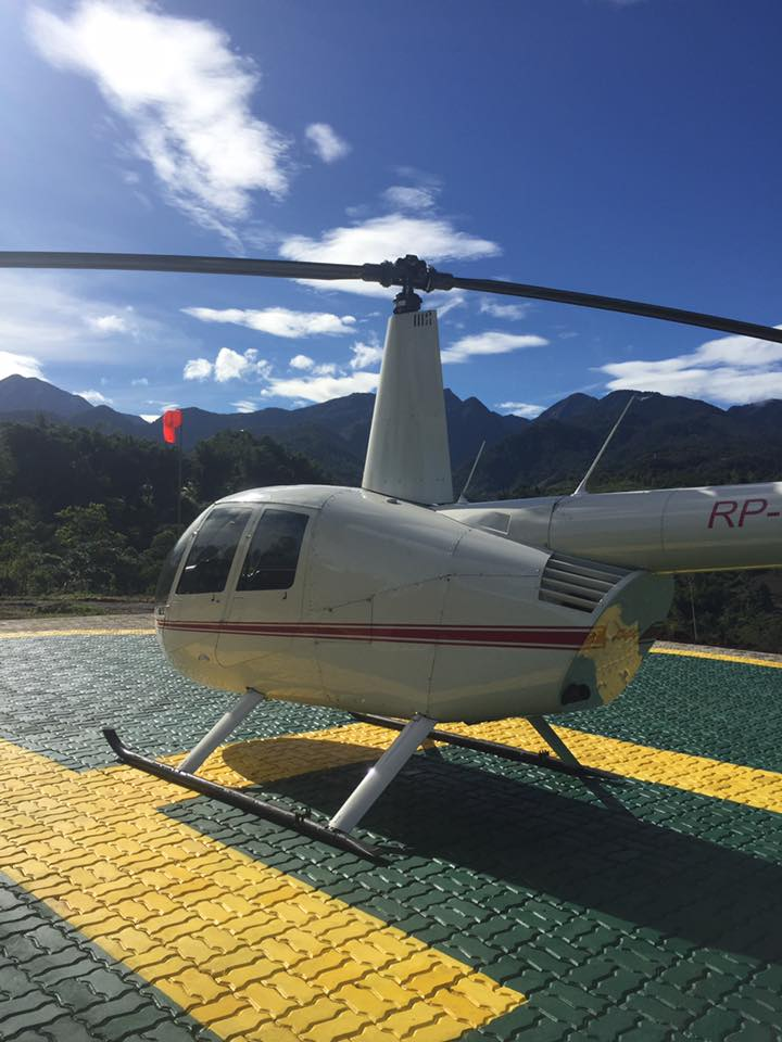 Take a helicopter ride and see Dahilayan Bukidnon from the sky