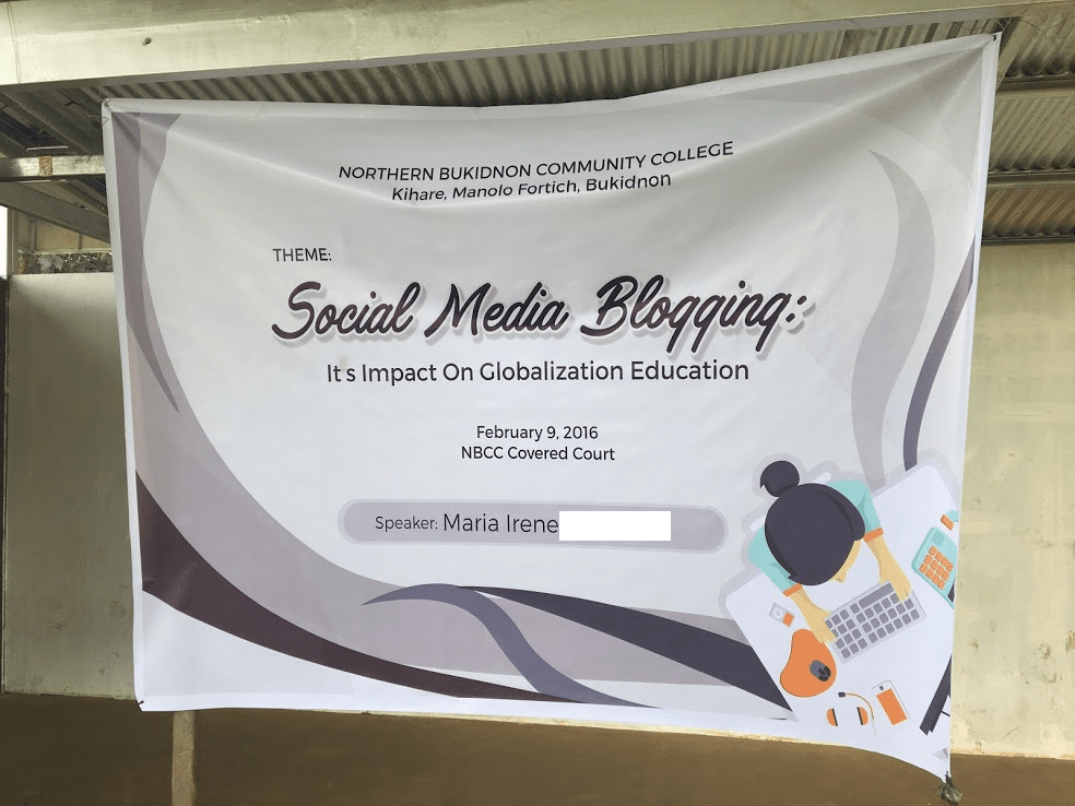 Teaching blogging and social media 101 in Manolo Fortich