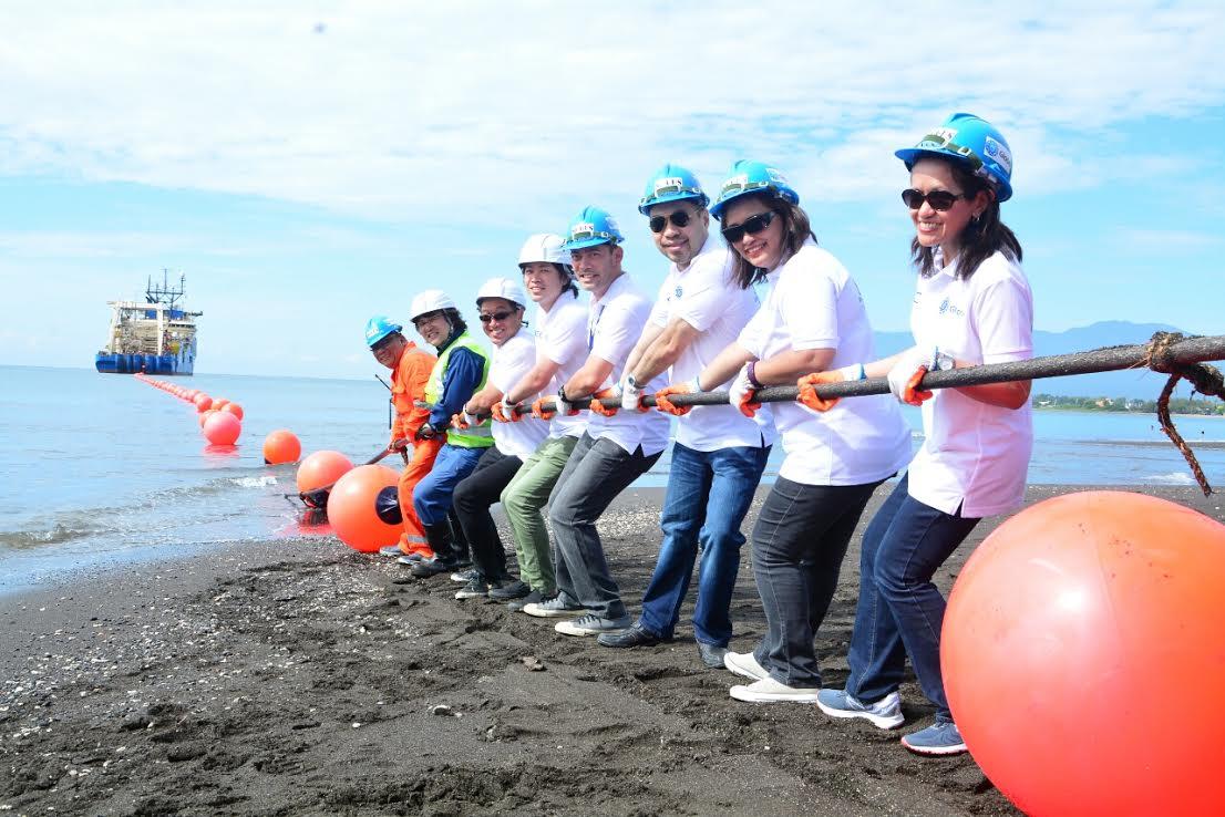 Globe Telecom lands SEA-US submarine cable system in Davao City