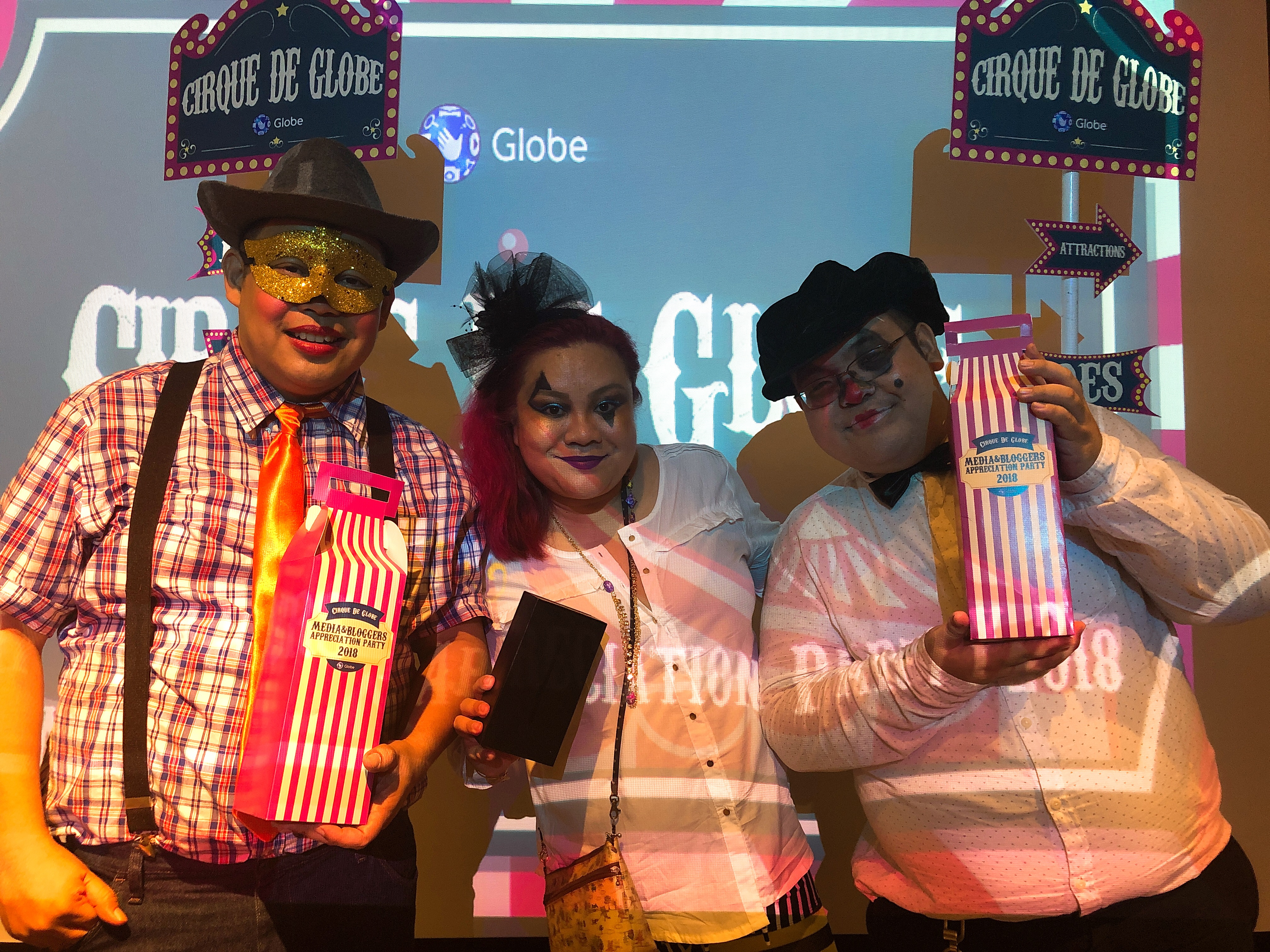 The fun Cirque de Globe CDO Globe Telecom party and my very special prize