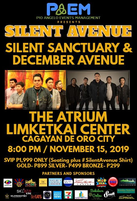 Silent Sanctuary and December Avenue to hold concert in CDO