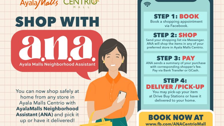 Ayala Malls Centrio's 'ANA' makes virtual shopping, pick up and delivery a breeze