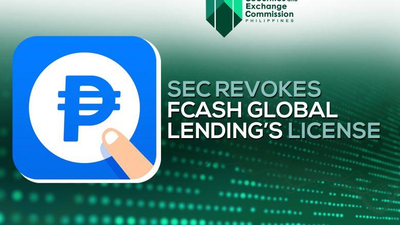FCash Global Lending license canceled