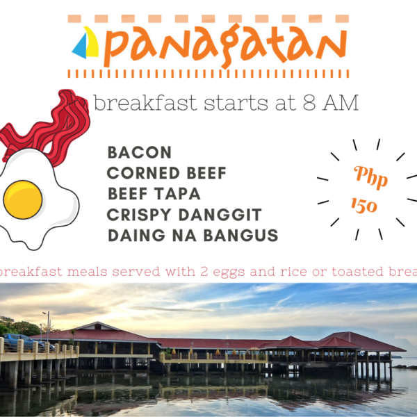 Panagatan Restaurant Opol now offers breakfast